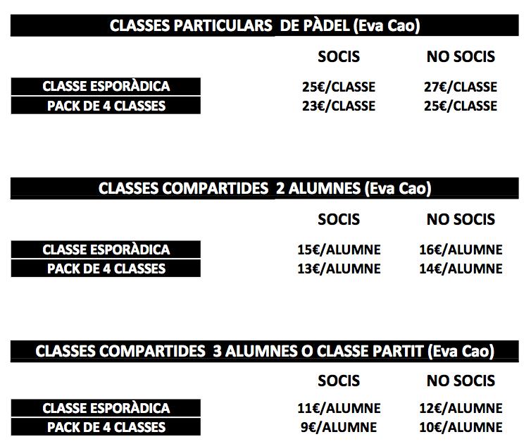 Classes particulars pàdel