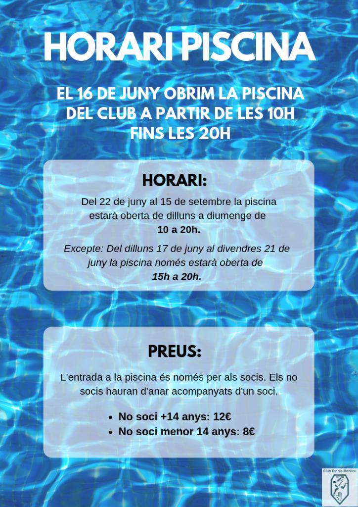 Horari piscina 2019