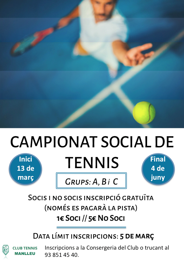 Cartell Social Tennis