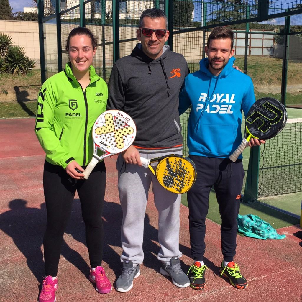 Andrea Garcia, Adam Falgueras i Adrià Mercadal.