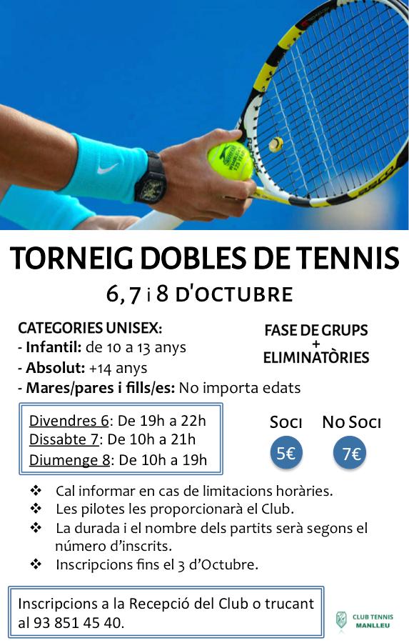 Torneig dobles tennis