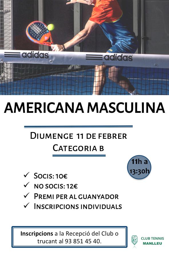 Americana masculina 11 febrer