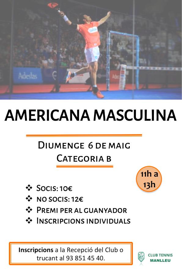 Americana masculina 6 maig