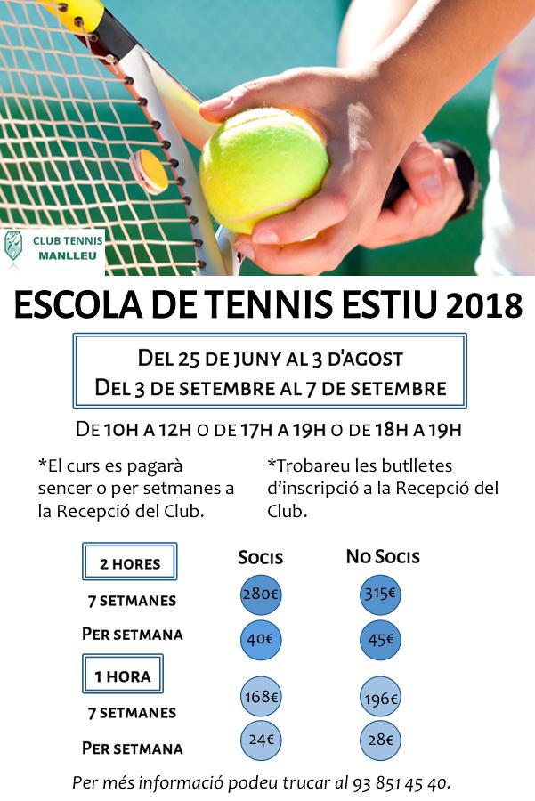 Escola tennis 2018