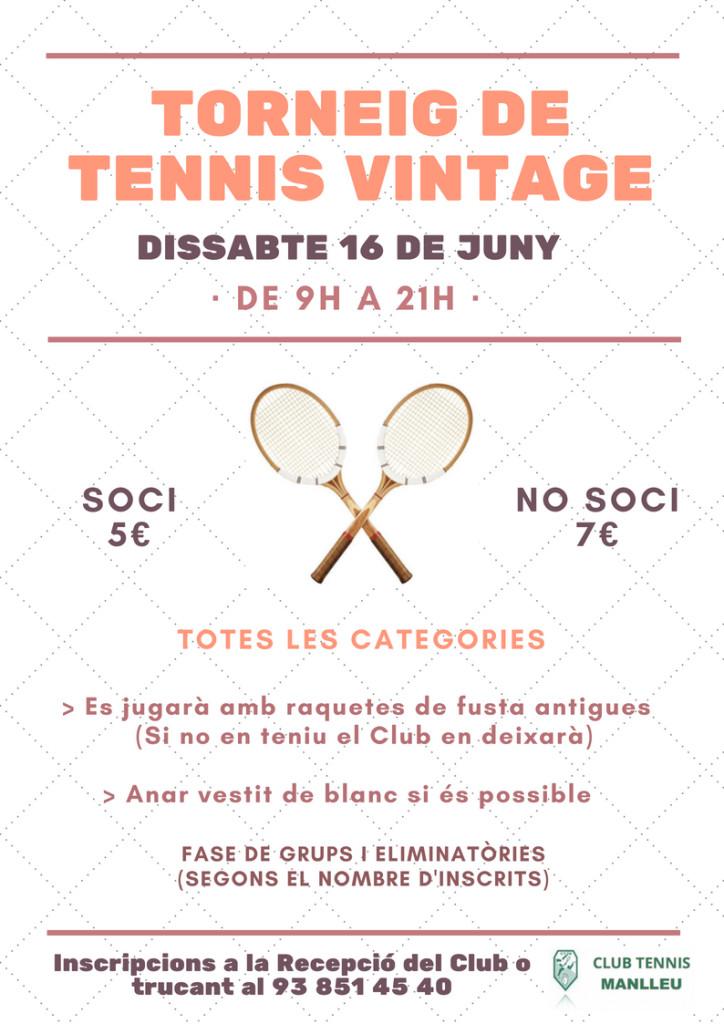 Torneig vintage tennis